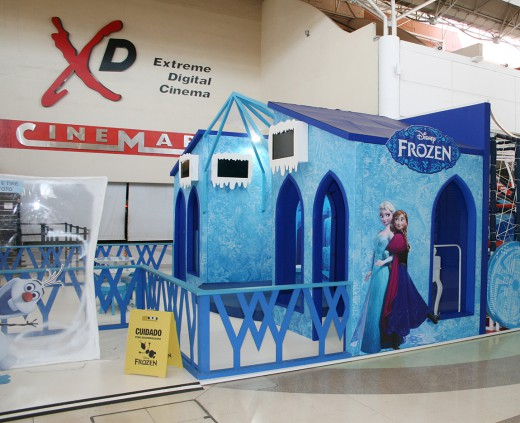 Cenário Disney - Frozen e Spider Man